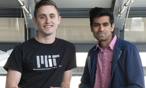 Two grad students who took first prize in the U.S. Air Force's Visionary Q-Prize Competition.